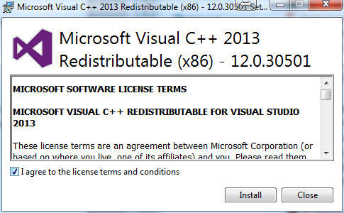 Visual Studio C++ Redistributable Image