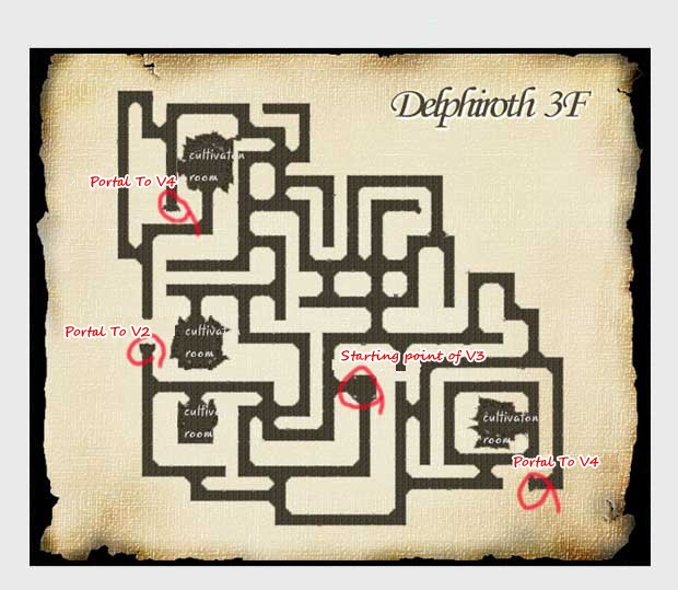 Delphiroth Floor 3 Map